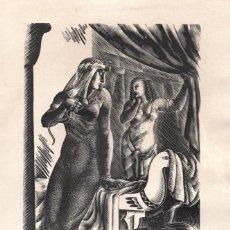 Arte: XILOGRAFÍA DE ENRIC C RICART PARA EL LIBRO ANTONY AND CLEOPATRA DE WILLIAM SHAKESPEARE. NUEVA YORK:. Lote 221984632