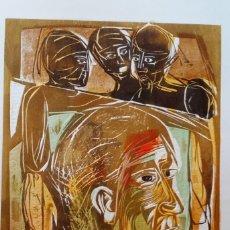 Arte: ISMAEL COBAN, XILOGRAFIA DE 1982. Lote 222272891