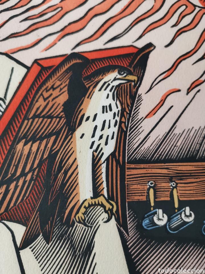 Arte: Xilografía / Grabado San Juan de la Puerta Latina Patrón de Impresores de Jean Chièze - Foto 3 - 222445957