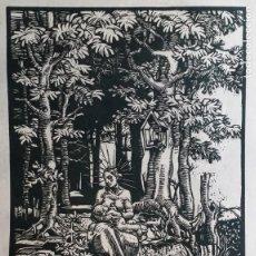 Arte: JOSEPH PROKOP: NATIVIDAD, VIRGEN DEL BOSQUE AMAMANTANDO. GRABADO DE 1928, FIRMADO. Lote 222590518