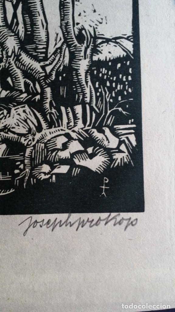 Arte: Joseph Prokop: Virgen amamantando. Grabado de 1928, firmado - Foto 3 - 222590518