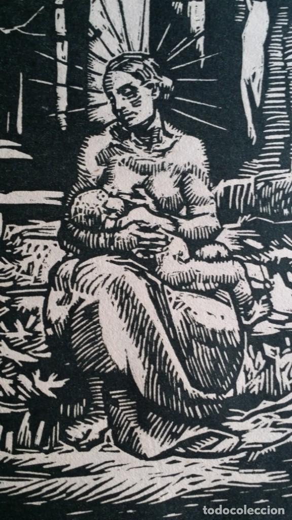 Arte: Joseph Prokop: Virgen amamantando. Grabado de 1928, firmado - Foto 4 - 222590518
