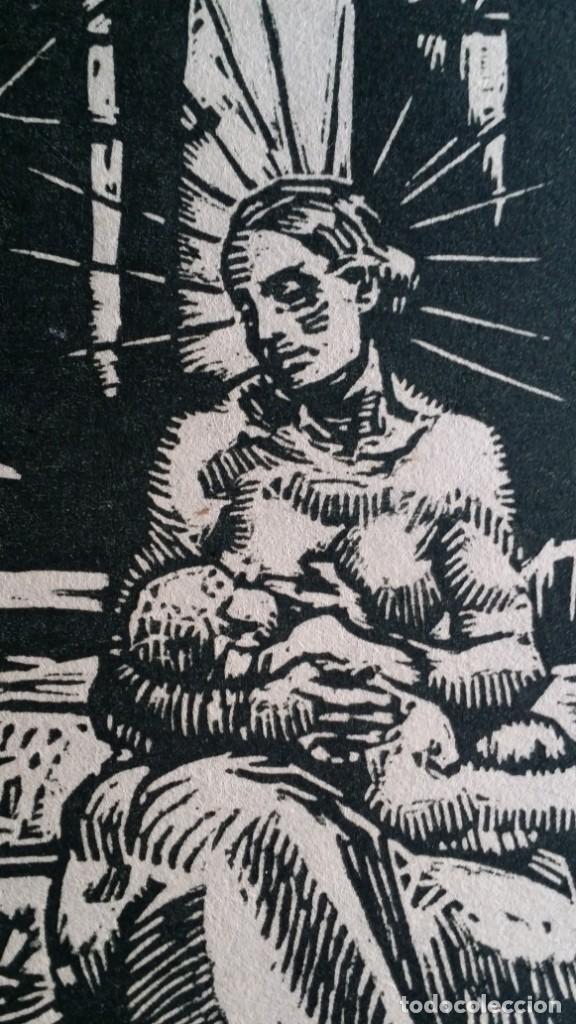Arte: Joseph Prokop: Virgen amamantando. Grabado de 1928, firmado - Foto 5 - 222590518