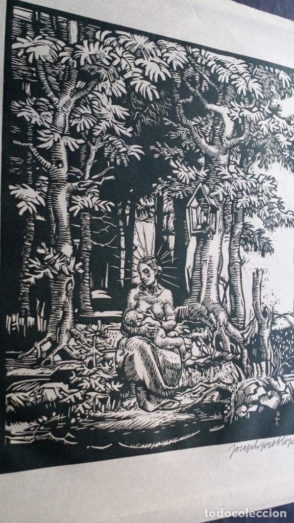 Arte: Joseph Prokop: Virgen amamantando. Grabado de 1928, firmado - Foto 6 - 222590518