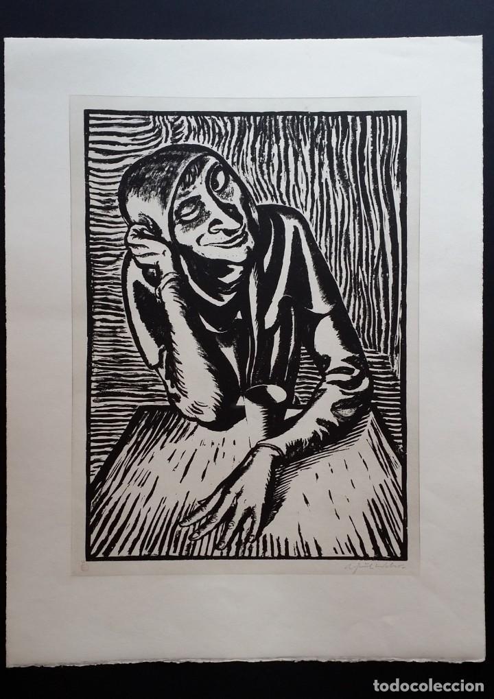 ANDREAS PAUL WEBER: XILOGRAFÍA, FIRMAS Y VARIOS SELLOS, 1949 (Arte - Xilografía)