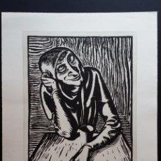 Arte: ANDREAS PAUL WEBER: XILOGRAFÍA, FIRMAS Y VARIOS SELLOS, 1949. Lote 222592351