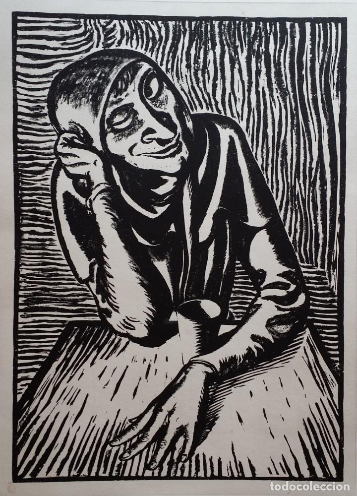 Arte: Andreas Paul Weber: Xilografía, firmas y varios sellos, 1949 - Foto 2 - 222592351