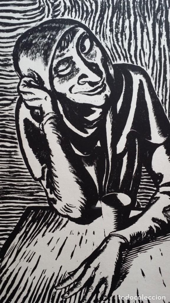 Arte: Andreas Paul Weber: Xilografía, firmas y varios sellos, 1949 - Foto 3 - 222592351