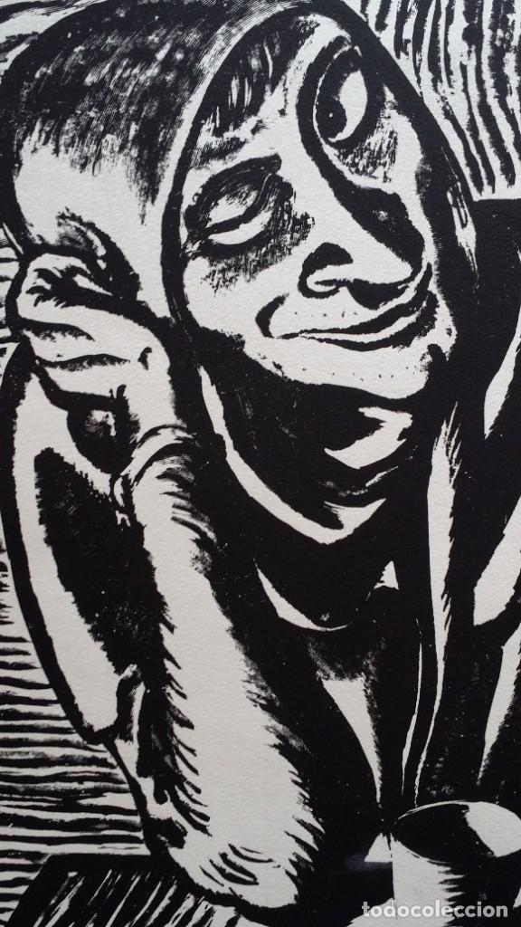 Arte: Andreas Paul Weber: Xilografía, firmas y varios sellos, 1949 - Foto 4 - 222592351