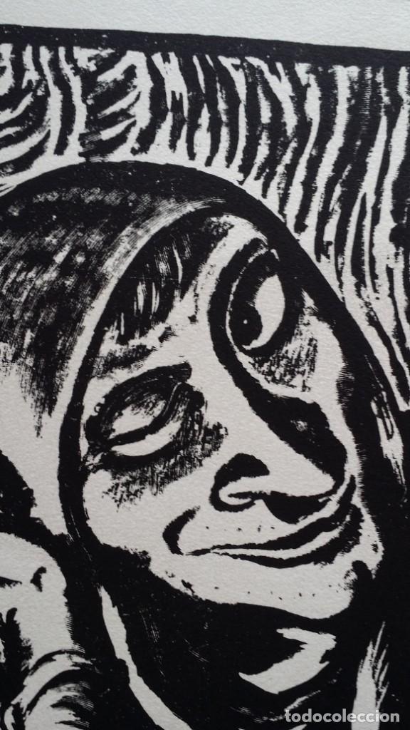 Arte: Andreas Paul Weber: Xilografía, firmas y varios sellos, 1949 - Foto 5 - 222592351