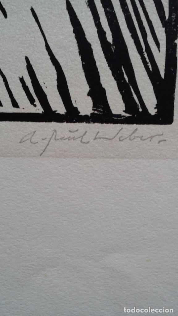 Arte: Andreas Paul Weber: Xilografía, firmas y varios sellos, 1949 - Foto 6 - 222592351