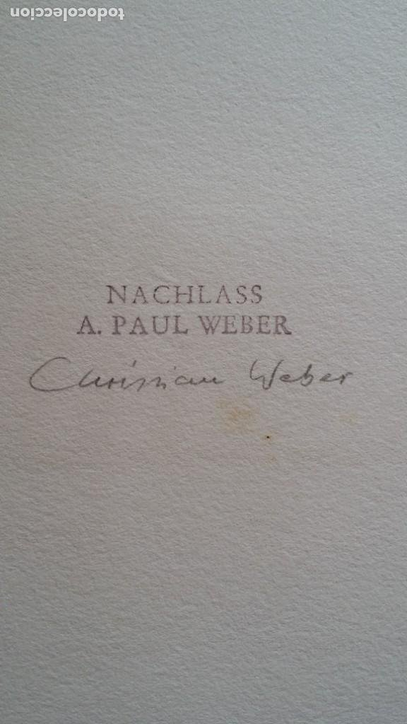 Arte: Andreas Paul Weber: Xilografía, firmas y varios sellos, 1949 - Foto 8 - 222592351