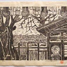 Arte: INTERESANTE GRABADO JAPONÉS ORIGINAL PPIOS XX, CIRCA 1920-30, BUEN ESTADO, FIRMADO Y NUMERADO LÁPIZ. Lote 230674170