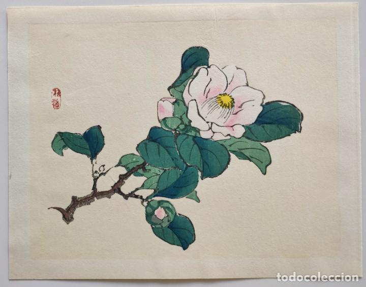 Arte: Exquisito grabado japonés original, buen estado, firmado xilografía - Foto 2 - 230847570