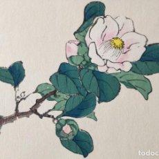 Arte: EXQUISITO GRABADO JAPONÉS ORIGINAL, BUEN ESTADO, FIRMADO XILOGRAFÍA. Lote 230847570
