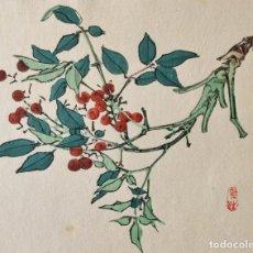 Arte: EXQUISITO GRABADO JAPONÉS ORIGINAL, BUEN ESTADO, MAESTRO BAIREI, FIRMADO XILOGRAFÍA. Lote 230864335