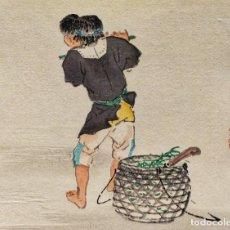 Arte: EXQUISITO GRABADO JAPONÉS ORIGINAL MAESTRO BAIREI, BUEN ESTADO, FIRMADO, RETRATO MÚSICO. Lote 230996410