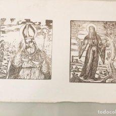Arte: 5 HOJAS ORIGINALES MUY ANTIGUAS CON XILOGRAFIAS RELIGIOSAS. Lote 231141560