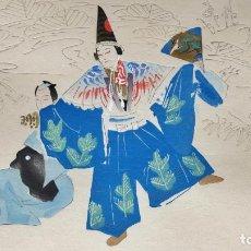 Arte: INTERESANTE GRABADO JAPONES ORIGINAL, ESCENA KABUKI, BUEN ESTADO. Lote 231750340