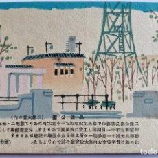 Arte: EXQUISITO GRABADO JAPONÉS ORIGINAL, PAISAJE URBANO TOKIO, XILOGRAFÍA, BUEN ESTADO. Lote 233268250