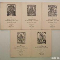 Arte: 5 VOLUMENES ESTAMPES XILOGRAFICAS PER RICARD VIVES 1971, (100 LAMINAS). Lote 235313450