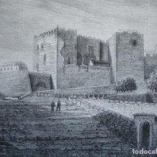 Arte: TARRAGONA PARTE POSTRIOR PALACIO ROMANO.AÑO 1872.BUENA IMPRESION. Lote 238488495