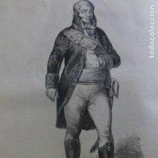 Arte: IGNACIO MARIA DE ALAVA GRABADO XILOGRAFICO 1850. Lote 240948915