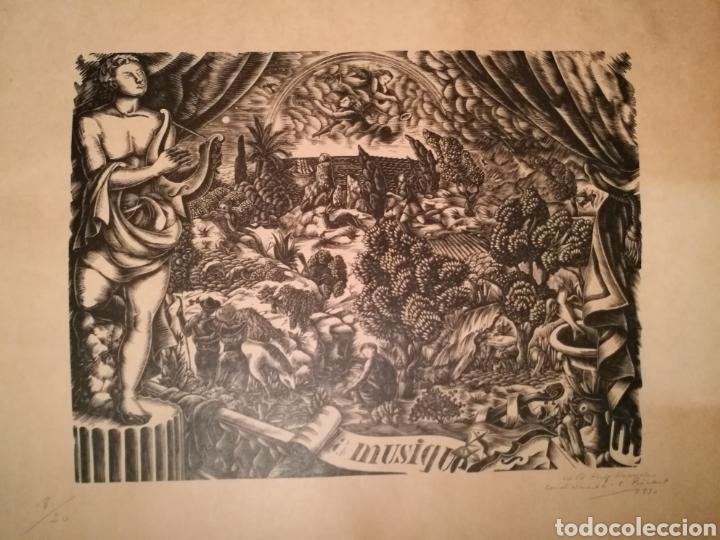 Arte: LA MUSIQUE POR ENRIC CRISTÒFOL RICART (1893-1960) DEDICADA A PUIG PERUCHO EN 1930 - Foto 2 - 241221450