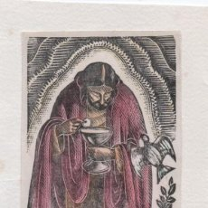 Arte: XILOGRAFIA ORIGINAL DE ENRIC C RICART. PRUEBA DE ENSAYO. PARIS VITAE. COLOREADA. Lote 241406380