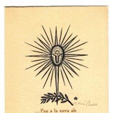 Arte: A. OLLÉ PINELL - XILOGRAFÍA FIRMADA - 1973 - POSTAL NAVIDEÑA 157X111 DÍPTICO - INÉDITO EN TODOCOLECC. Lote 242330890
