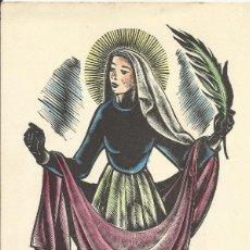 Arte: ANTONI GELABERT. SANTA EULALIA. HOSPITALET. 1957. GREGORIO MODEGO CASAUS. COLEGIO TECLA SALA.. Lote 242825525