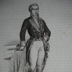 Arte: DIONISIO ALCALA GALIANO .GRABADO AÑO 1851. Lote 242844470
