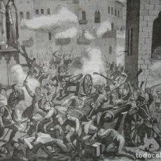 Arte: ASALTO DE TARRAGONA GUERRA INDEPENDENCIA . AÑO 1851. Lote 243001140