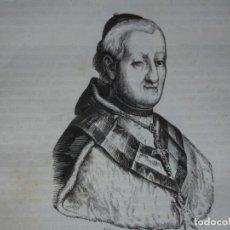 Arte: LUIS MARIA DE BORBON ARZOBISPO DE TOLEDO .GRABADO DEL AÑO 1851. Lote 243335050