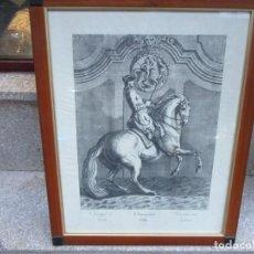 Arte: EQUITACION HIPICA - XILOGRAFIA DEL XIX 'CHANGER A DROITE' DEL GRABADO DEL XVIII 1760-1770 RINDINGER. Lote 243464380
