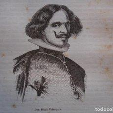Arte: DIEGO VELAZQUEZ . .GRABADO DEL AÑO 1850. Lote 244529360