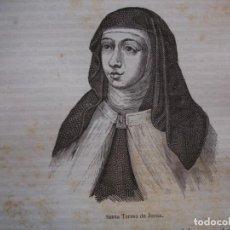 Arte: SANTA TERESA DE JESUS . GRABADO DEL AÑO 1850. Lote 244529400