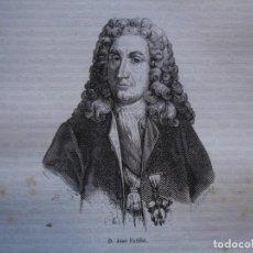 Arte: JOSE PATIÑO . REINADO DE FELIPE V .GRABADO DEL AÑO 1850. Lote 244530335