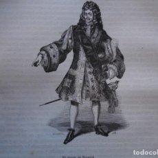 Arte: EL DUQUE DE BERWICK . REINADO DE FELIPE V .GRABADO DEL AÑO 1850. Lote 244530620
