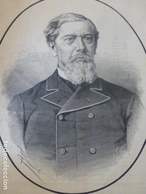 ANTONIO LOPEZ COMILLAS BARCELONA ANTIGUO GRABADO XILOGRAFICO XILOGRAFIA 1883 (Arte - Xilografía)