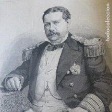 Arte: REY LUIS I DE PORTUGAL ANTIGUO GRABADO XILOGRAFICO XILOGRAFIA 1883. Lote 246696515