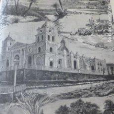 Arte: SANTIAGO DE CHILE VARIAS VISTAS ANTIGUO GRABADO XILOGRAFICO XILOGRAFIA 1883. Lote 246821040
