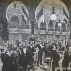 Arte: MADRID BANQUETE EN EL TEATRO DE LA ALHAMBRA ANTIGUO GRABADO XILOGRAFICO XILOGRAFIA 1884. Lote 247165795