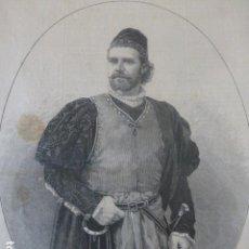 Arte: JULIAN GAYARRE ANTIGUO GRABADO XILOGRAFICO XILOGRAFIA 1884. Lote 247174285