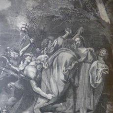 Arte: EL PRENDIMIENTO DE VAN DYCK ANTIGUO GRABADO XILOGRAFICO XILOGRAFIA 1884. Lote 247175620
