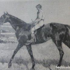 Arte: PARÍS VENCEDOR DEL GRAND PRIX LITTLE DUCK ANTIGUO GRABADO XILOGRAFICO XILOGRAFIA 1884. Lote 247191430
