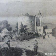 Arte: SAN ANGEL MEXICO CAPILLA DE SAN ANTONIO ANTIGUO GRABADO XILOGRAFICO XILOGRAFIA 1884. Lote 247313100