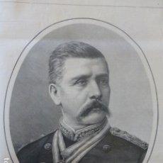 Arte: MEXICO EL GENERAL PORFIRIO DIAZ ANTIGUO GRABADO XILOGRAFICO XILOGRAFIA 1884. Lote 247316790