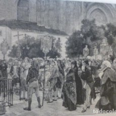 Arte: SEVILLA SERMON EN EL PARIO DE LOS NARANJOS ANTIGUO GRABADO XILOGRAFICO XILOGRAFIA 1884. Lote 247320515