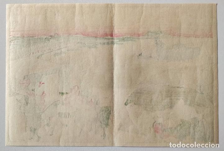 Arte: Excelente grabado japonés original del maestro Hokusai, monte Fuji, Ukiyo-e, gran calidad - Foto 3 - 248030295